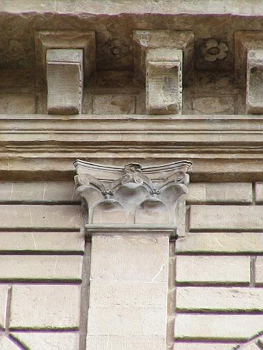 Palazzo rucellai 1447 1451 firenze 28 capitello delle lesene del 3 livello - I giardini di palazzo rucellai ...
